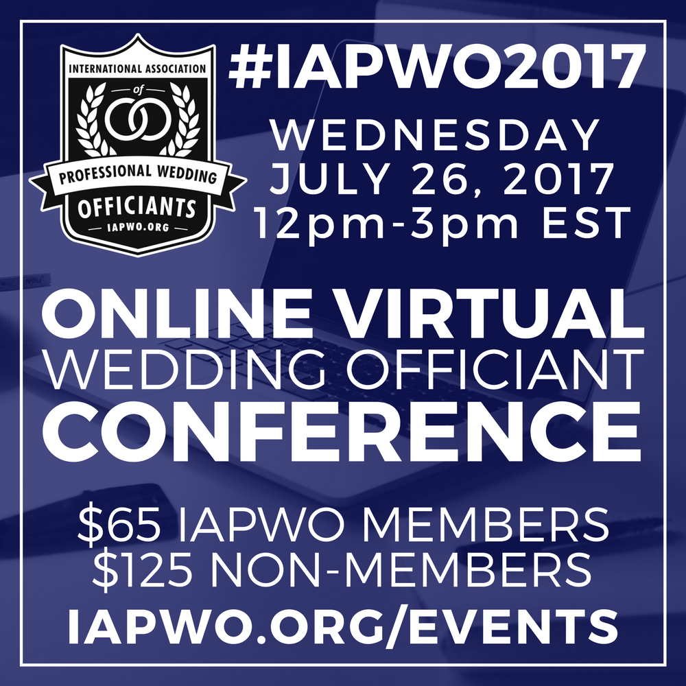 IAPWO2017 Wedding Officiant Conference