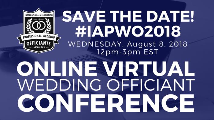 Save the Date IAPWO 2018