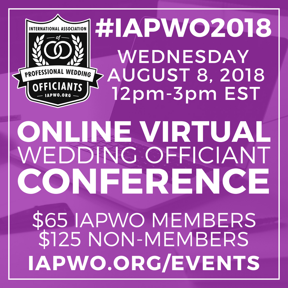 IAPWO2018 Wedding Officiant Conference