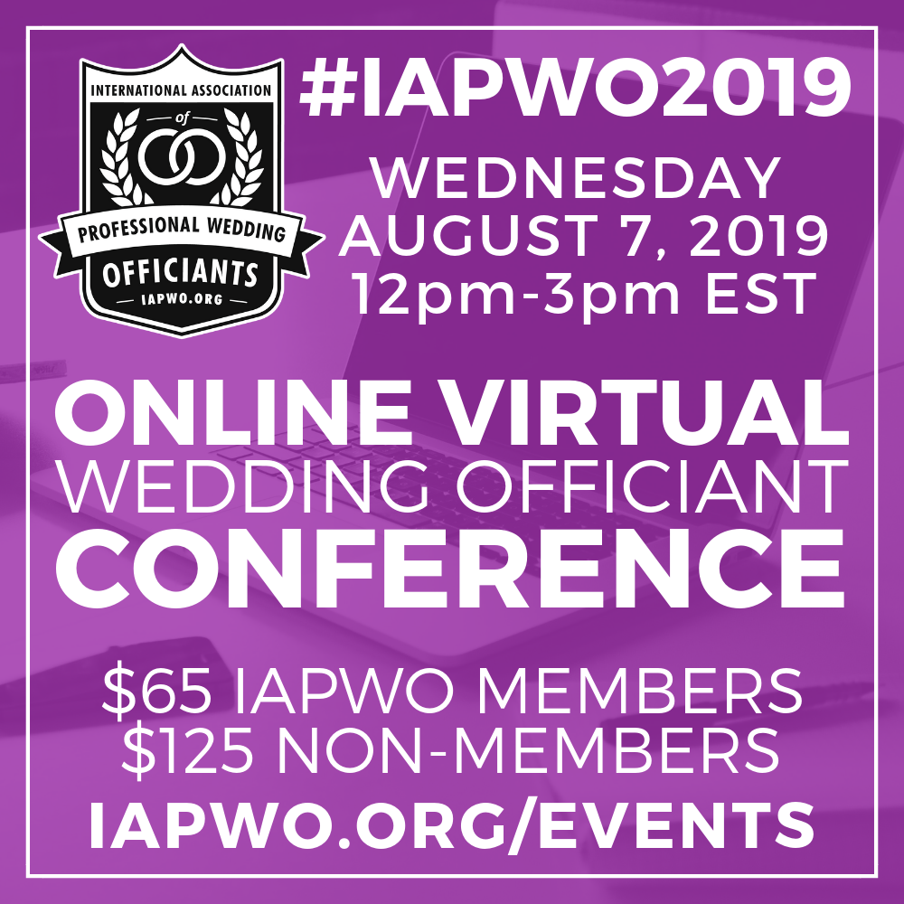 2019 Wedding Officiant Conference IAPWO
