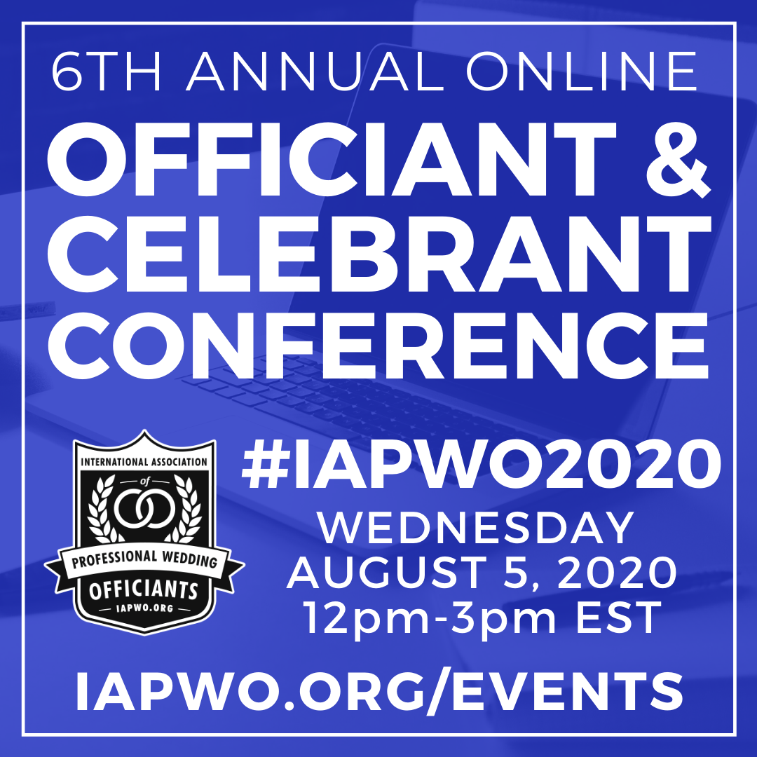 IAPWO2020 Wedding Officiant Conference